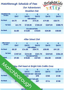 matchborough out of school club fees