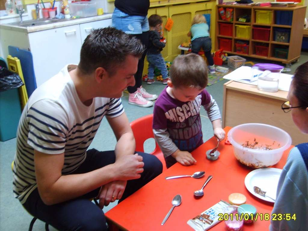 Youngsters at Northfield Get Messy on Cooking Morning