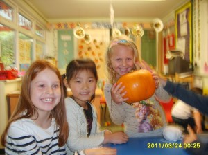 Pumpkin carving at Bright Kids Northfield