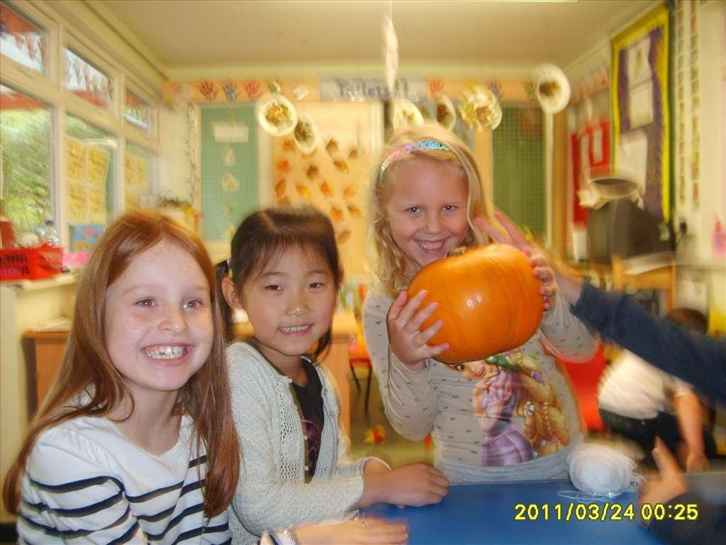 Pumpkin carving at Bright Kids Northfield