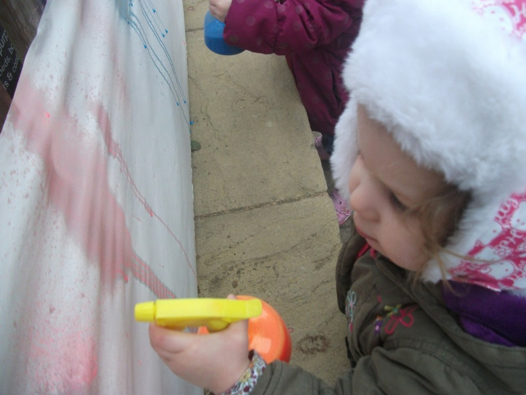 Isabel spray painting