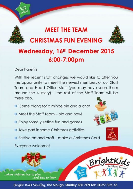 Festive Parent's Evening 16th December