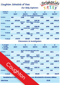 BK Coughton Schedule of Nursery Fees