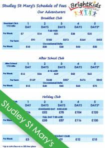 wigwam out of school club fees